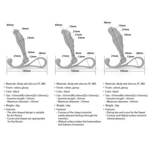 Zini Janus Anti Shock Medium Prostate Massager