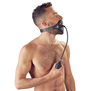 Black Leather Inflatable Gag