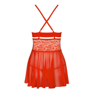 Obsessive Babydoll And String Red
