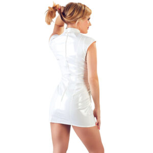 White Vinyl Cupless Dress