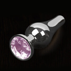 Dolce Piccante Silver Style Anal Plug Small With Pink Gem