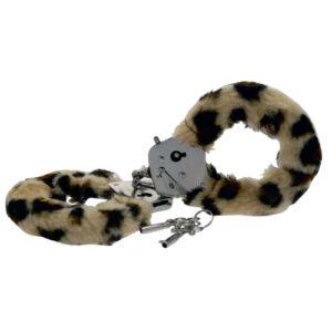 Toy Joy Furry Fun Hand Cuffs Leopard Plush