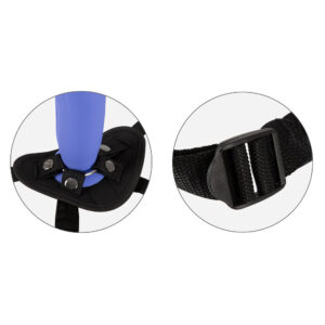 Remote Controlled Vibrating Strap On Purple