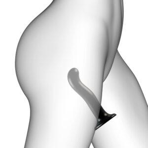 Strap On Me Prostate and G Spot Curved Dildo Medium Black