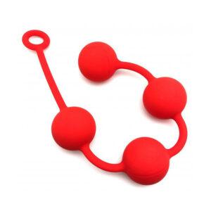 Red Quartet Anal Balls 5cm