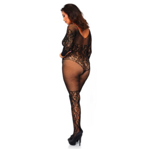 Leg Avenue Vine Lace And Net Bodystocking UK 18 to 22