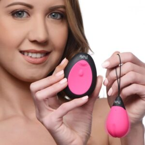10X Silicone Vibrating Egg Pink
