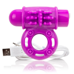 Screaming O Charged OWow Purple Vibrating Cock Ring