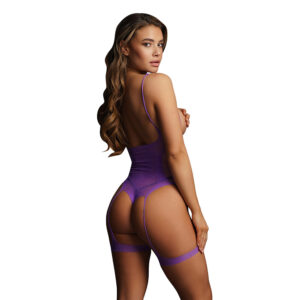 Le Desir Bliss Open Cup Purple Strappy Teddy UK 6 to 14