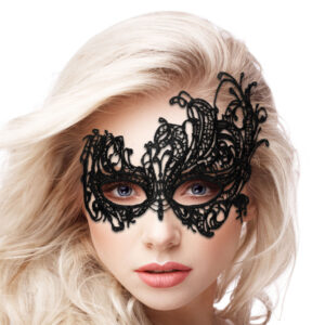 Ouch Royal Black Lace Mask