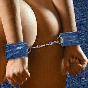 Ouch Tough Denim Style Handcuffs