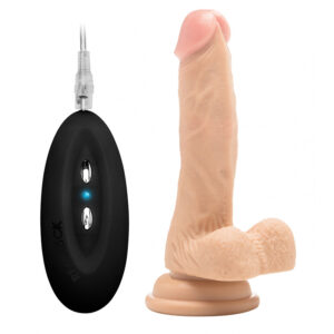 RealRock 7 Inch Vibrating Realistic Cock With Scrotum