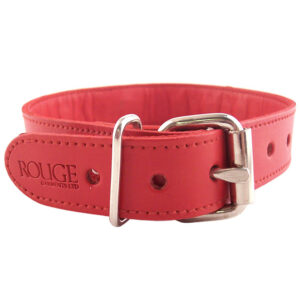 Rouge Garments Red Studded ORing Studded Collar