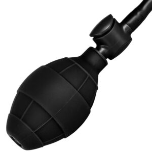 Black Booty Call Pumper Silicone Inflatable Small Anal Plug