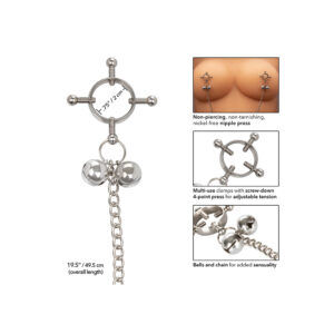 Nipple Grips 4 Point Nipple Press With Bells