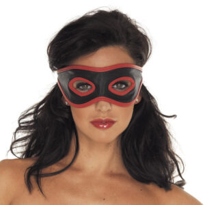 Red And Black Leather Mask